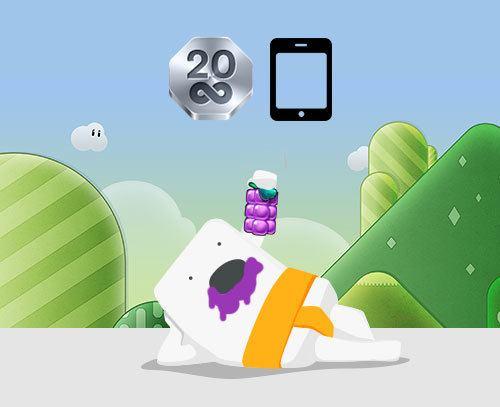 Få 20 gratissnurr i Reel Rush när du spelar i mobilen.