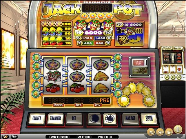 Spiele den Jackpot 6000 Slot bei Casumo.com