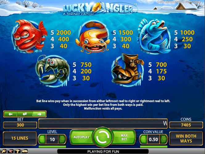 play Lucky Angler slot at casumo.com