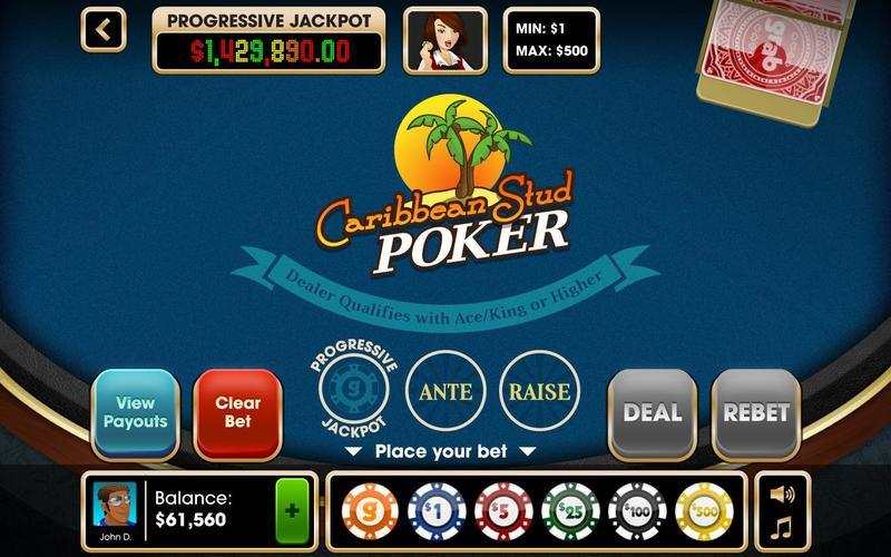 caribbean-stud-poker-table