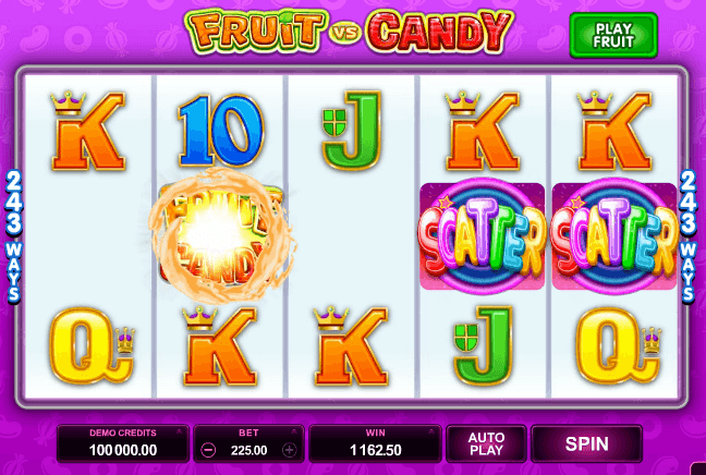 Fruit vs Candy slot recension