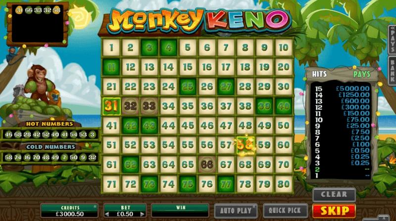 Recension av Monkey Keno