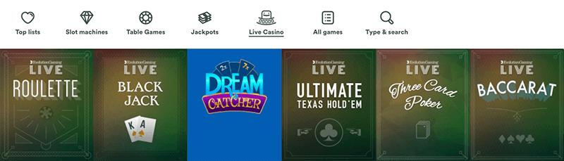 Casumo live casinospel